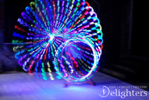 D LED hoop