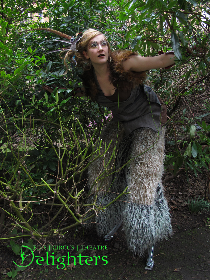 Stilt walking Faun