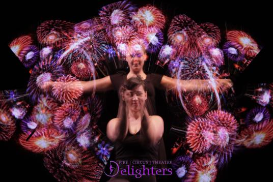 LED fireworks show